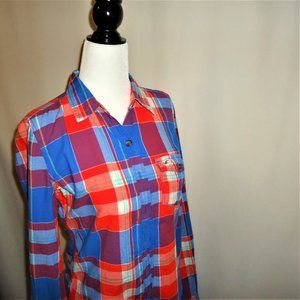 Hollister Cotton Plaid Shirt Small